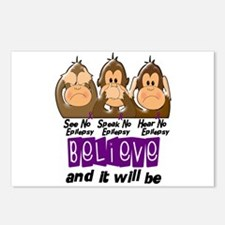 See Speak Hear No Epilepsy 3 Postcards (Package of