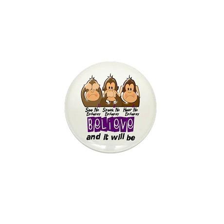 See Speak Hear No Epilepsy 3 Mini Button (10 pack)
