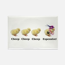 Cheep Cheep Expensive Rectangle Magnet