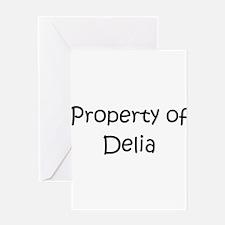 Unique Delia Greeting Card