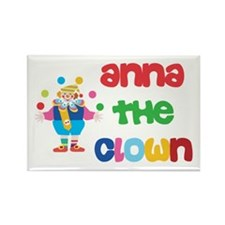 Anna - The Clown Rectangle Magnet