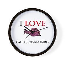 I Love California Sea Hares Wall Clock