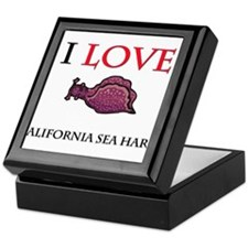 I Love California Sea Hares Keepsake Box