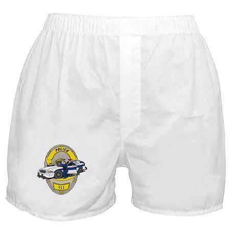 BADGE AND COP CAR Boxer Shorts