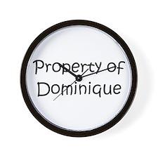 Cool Dominique Wall Clock