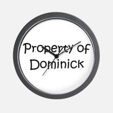 Cute Dominick name Wall Clock