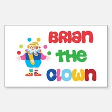 Brian - The Clown Rectangle Decal