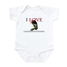 I Love California Condors Infant Bodysuit