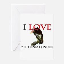 I Love California Condors Greeting Cards (Pk of 10