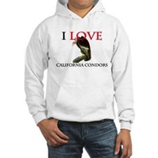 I Love California Condors Hoodie