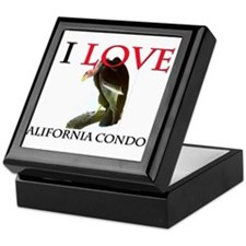 I Love California Condors Keepsake Box