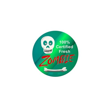 100% Fresh Zombie Tee Shirt G Mini Button (10 pack