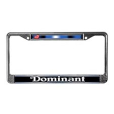 Dominant License Plate Frame