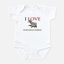 I Love Burchell's Zebras Infant Bodysuit