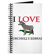 I Love Burchell's Zebras Journal