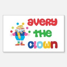 Avery - The Clown Rectangle Decal
