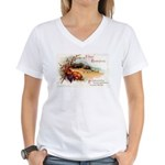 Ripe Fruits & Flowers Women's V-Neck T-Shirt