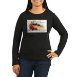 Ripe Fruits & Flowers Women's Long Sleeve Dark T-S