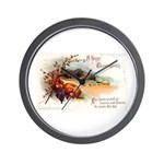 Ripe Fruits & Flowers Wall Clock