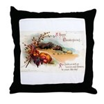 Ripe Fruits & Flowers Throw Pillow