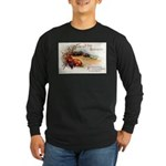 Ripe Fruits & Flowers Long Sleeve Dark T-Shirt