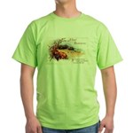 Ripe Fruits & Flowers Green T-Shirt