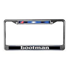 Bootman License Plate Frame