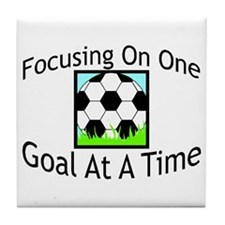One Goal At A Time Tile Coaster