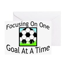 One Goal At A Time Greeting Card