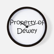 Unique Dewey Wall Clock