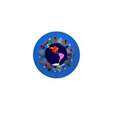 Peaceful Children around the World Mini Button