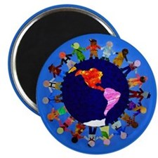 Peaceful Children around the World Magnet