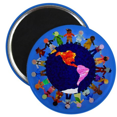 Peaceful Children around the World Magnet