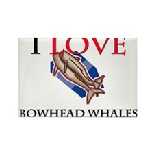 I Love Bowhead Whales Rectangle Magnet (10 pack)