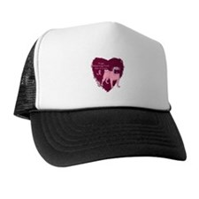 Pink Ribbon Pug Trucker Hat
