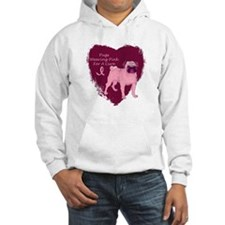 Pink Ribbon Pug Hoodie
