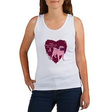Pink Ribbon Pug Women's Tank Top