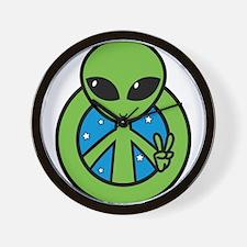Peace Alien Wall Clock