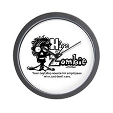Funny Hire a Zombie Zombie Labor Wall Clock
