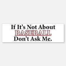 Baseball Bumper Bumper Bumper Sticker
