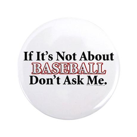 """Baseball 3.5"""" Button (100 pack)"""