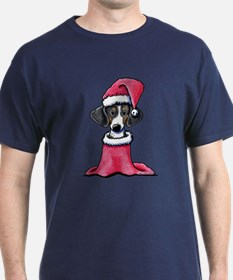 Holiday Piebald Doxie T-Shirt