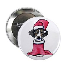 """Holiday Piebald Doxie 2.25"""" Button (10 pack)"""