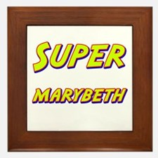 Super marybeth Framed Tile