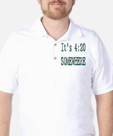420 Somewhere Golf Shirt