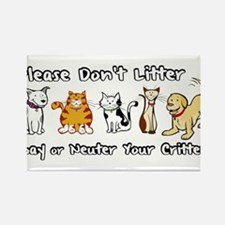 Don't Litter - Spay or Neuter Rectangle Magnet