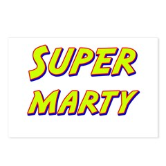 Super marty Postcards (Package of 8)
