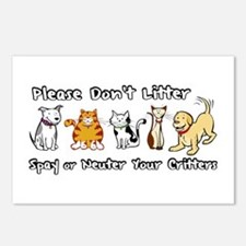 Don't Litter - Spay or Neuter Postcards (Package o