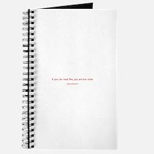 Too Close Journal