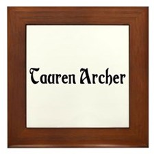 Tauren Archer Framed Tile